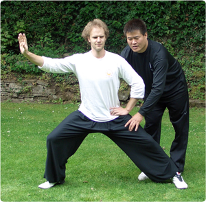 Master Wang Hai Jun and Howard Tripp